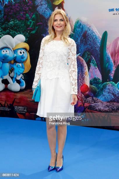 Tanja Buelter attends 'Die Schluempfe Das verlorene Dorf' Berlin Premiere at Sony Centre on April 2 2017 in Berlin Germany