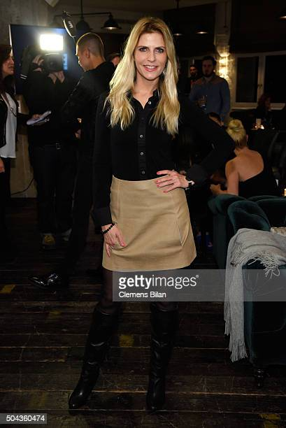 Tanja Buelter attends E Red Carpet Influencer Suite promoting 'Live from the Red Carpet' on german E Entertainment at Soho House on January 10 2016...