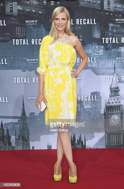 Tanja Buelter attends the Germany premiere of 'Total Recall' at Sony Center on August 13 2012 in Berlin Germany