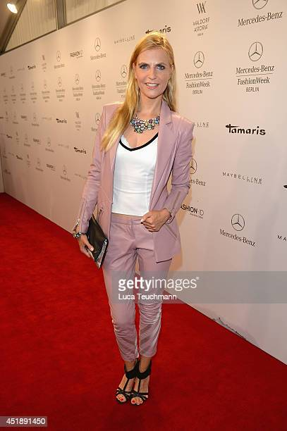 Tanja Buelter attends the Glaw show during the MercedesBenz Fashion Week Spring/Summer 2015 at Erika Hess Eisstadion on July 9 2014 in Berlin Germany