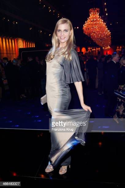 Tanja Buelter attends the Goldene Kamera 2014 at Tempelhof Airport on February 01 2014 in Berlin Germany