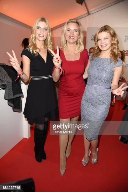 Tanja Buelter Carola Ferstl and Eva Imhof attend the 25 years anniversary ntv event at Bertelsmann Repraesentanz on November 28 2017 in Berlin Germany