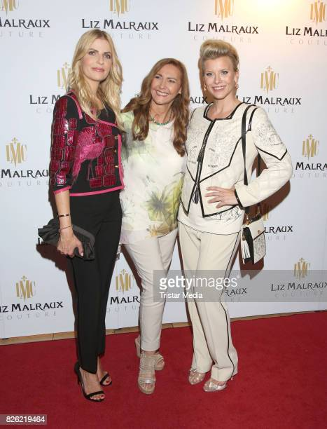 Tanja Buelter Ilona Baumgard and Eva Habermann during the Liz Malraux Fashion Show Autumn/Winter 201718 at Hotel Atlantic on August 3 2017 in Hamburg...