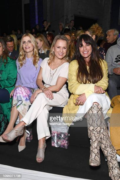 Tanja Buelter Nova Meierhenrich and Christine Neubauer attend the Riani show during the Berlin Fashion Week Autumn/Winter 2019 at ewerk on January 16...