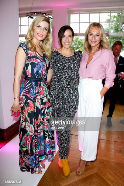 Tanja Buelter Ulrike Frank and Caroline Beil during the Ernsting's family Fashion Show 2019 on July 11 2019 in Hamburg Germany