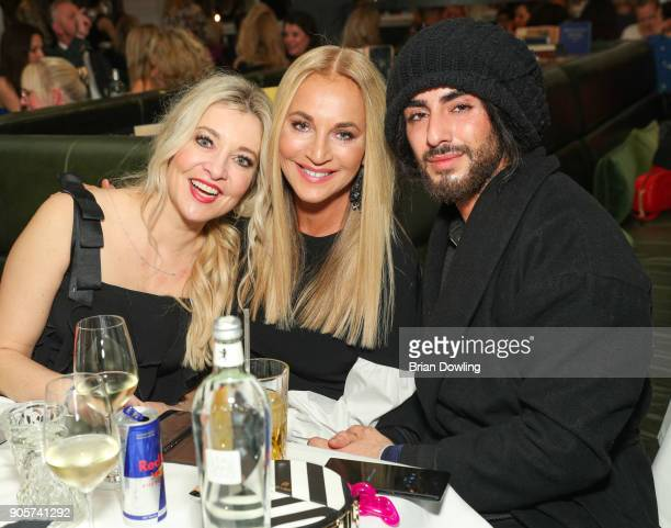 Tanja Comba Caroline Beil and hairstylist Apjar Black attend the Riani After Show Party during the MBFW Berlin January 2018 at Grace Restaurant on...