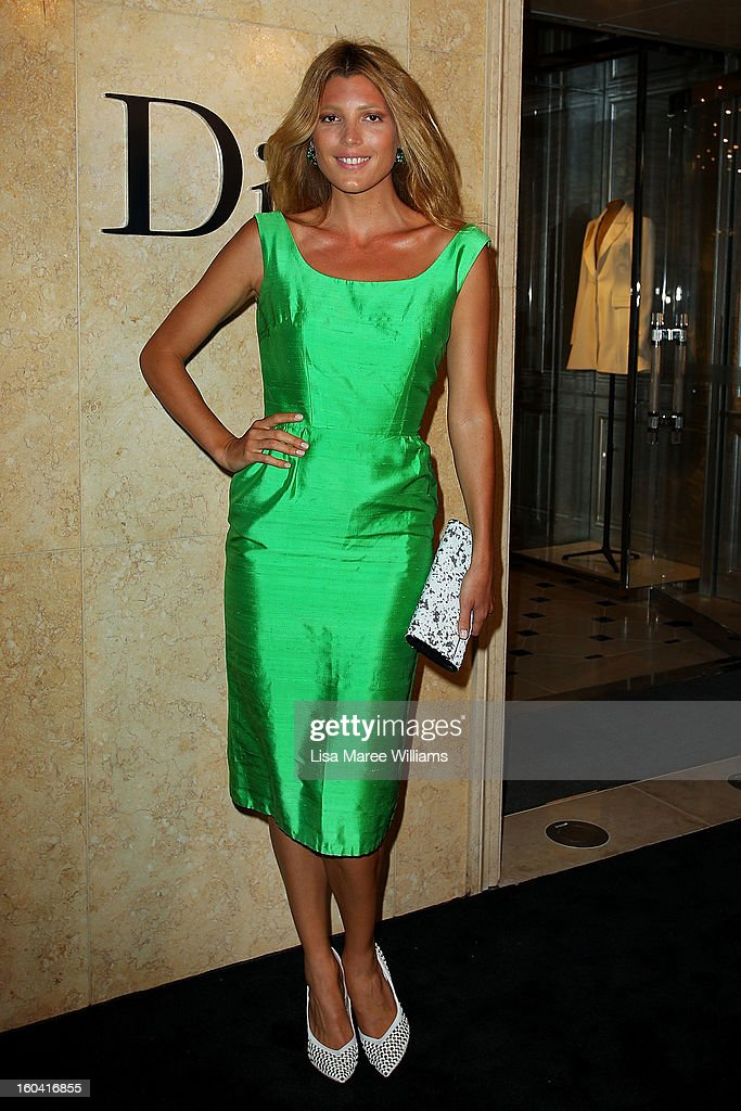 Tanja Gacic attends the opening of the Christan Dior Sydney store on January 31, 2013 in Sydney, Australia.
