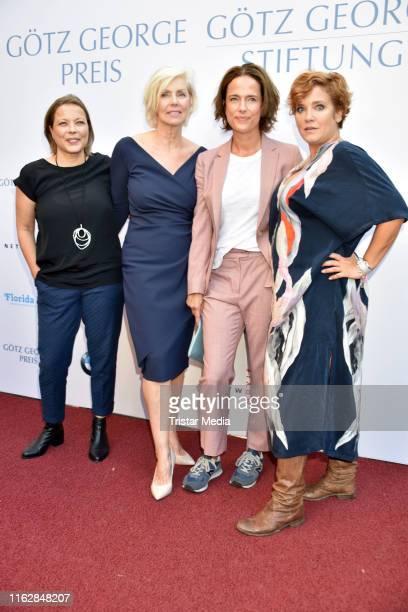 Tanja George, Marika George, Claudia Michelsen and Muriel Baumeister attend the Goetz George Award at Astor Film Lounge on August 19, 2019 in Berlin,...