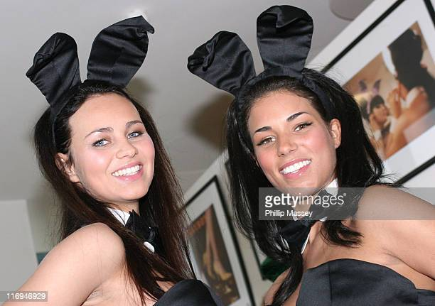 Tanja Kewitsch and Janine Habeck during Playboy Exposed Exhibition Dublin Photocall at Harvey Nichols in Dublin Ireland