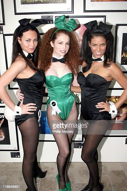 Tanja Kewitsch Scarlett Keegan and Janine Habeck during Playboy Exposed Exhibition Dublin Photocall at Harvey Nichols in Dublin Ireland