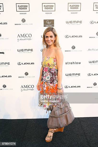 Tanja Lanaeus attends the Platform Fashion Selected show during Platform Fashion July 2016 at Areal Boehler on July 24 2016 in Duesseldorf Germany