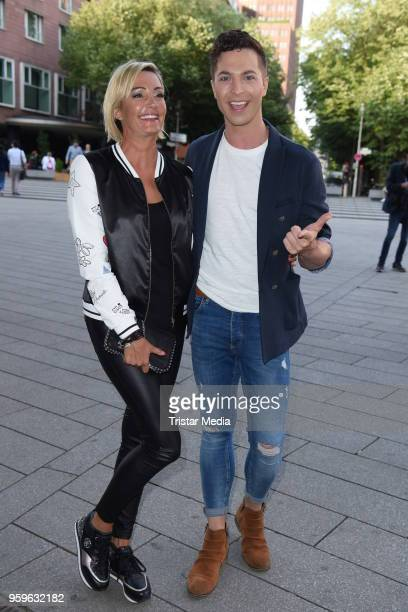 Tanja Lasch and Julian David during the premiere of 'Flying Illusion' on at Theater am Potsdamer Platz on May 17 2018 in Berlin Germany