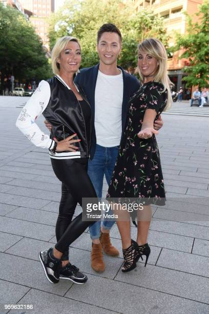 Tanja Lasch Julian David and Annemarie Eilfeld during the premiere of 'Flying Illusion' on at Theater am Potsdamer Platz on May 17 2018 in Berlin...