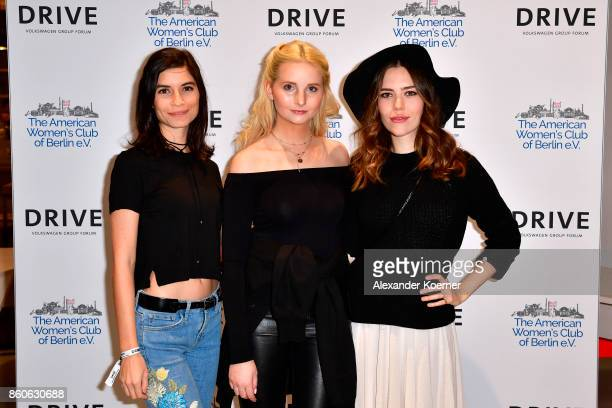 Tanja Lehmann Anna Hiltrop and Marielena Krewer arrive for the American Women's Club And Esmod Charity Fashion Show at DRIVE Volkswagen Group Forum...