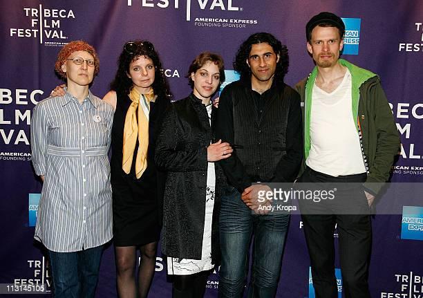 "Tanja Meding, Gabriella Bier, Jasmin Avissar, Osama Zatar and Tobias Janson attend the premiere of ""Love During Wartime"" during the 2011 Tribeca Film..."