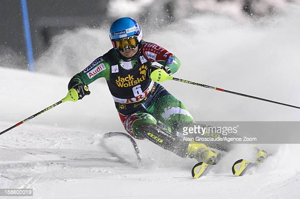 Tanja Poutiainen of Finland competes during the Audi FIS Alpine Ski World Cup Women's Slalom on December 20 2012 in Are Sweden