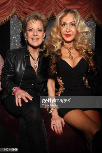 Tanja Schumann and Dolly Buster during the Olivia Jones Bunny Burlesque Party on April 2 2019 in Hamburg Germany