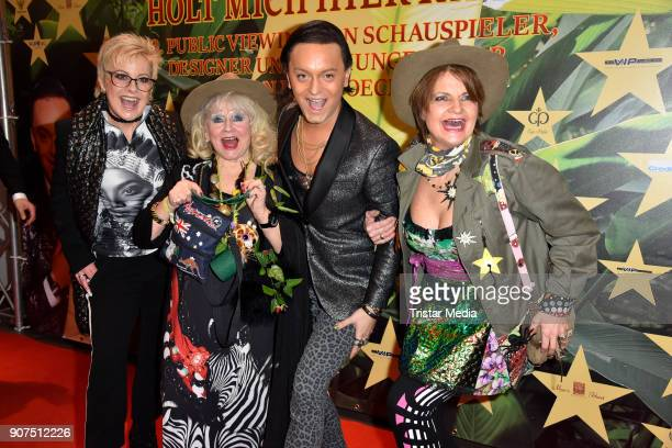 Tanja Schumann Eva Jacob Julian F M Stoeckel and Franziska Menke during the Public Viewing Of the TV Show 'Ich bin ein Star Holt mich hier raus' on...