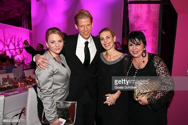 Tanja Stephani, Jens Peter Peuckert, Marketing Director Douglas,Stefanie Floetgen, Uschi Ackermann during the Glammy Award 2015 at Schlafwagenfabrik...