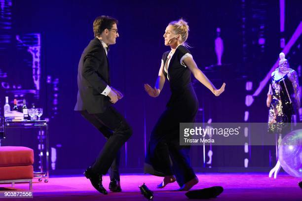 Tanja Wedhorn and Oliver Mommsen during a press rehearsall of the 'Die Tanzstunde' play on January 11 2018 in Berlin Germany
