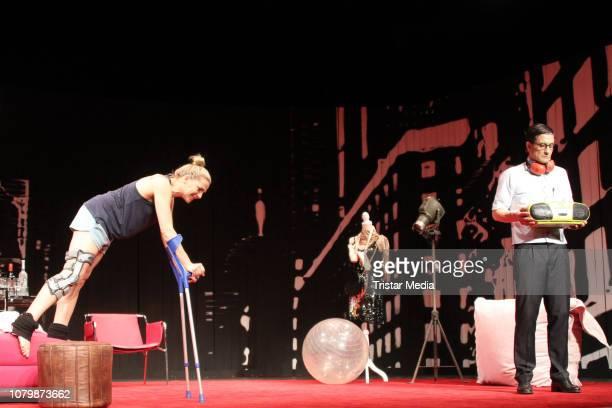 Tanja Wedhorn and Oliver Mommsen during the 'Die Tanzstunde' rehearsal at Komoedie Winterhuder Faehrhaus on January 9 2019 in Hamburg Germany