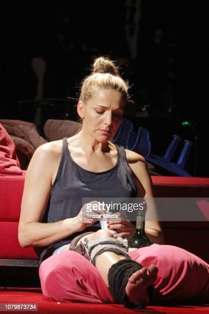 Tanja Wedhorn during the 'Die Tanzstunde' rehearsal at Komoedie Winterhuder Faehrhaus on January 9 2019 in Hamburg Germany
