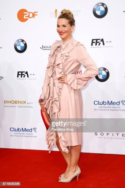 Tanja Wedhorn during the Lola German Film Award red carpet arrivals at Messe Berlin on April 28 2017 in Berlin Germany
