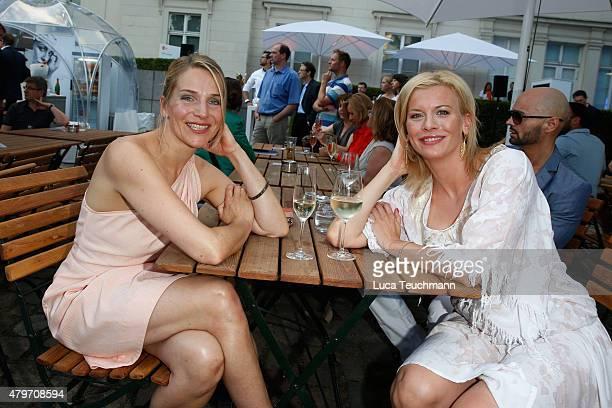 Tanja Wedhorn Eva Habermann attend the ZDF summer reception on July 6 2015 in Berlin Germany