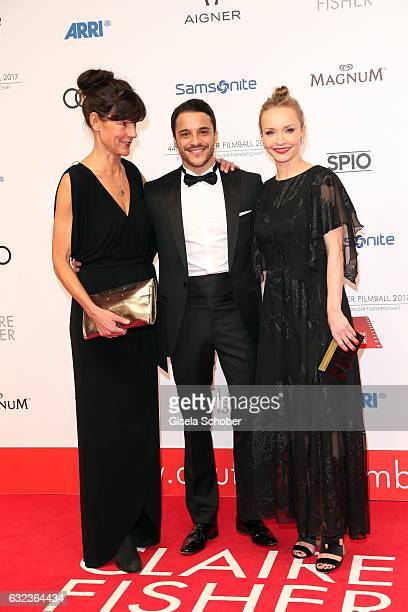 Tanja Ziegler Kostja Ullmann and his wife Janin Ullmann the 44th German Film Ball 2017 at Hotel Bayerischer Hof on January 21 2017 in Munich Germany