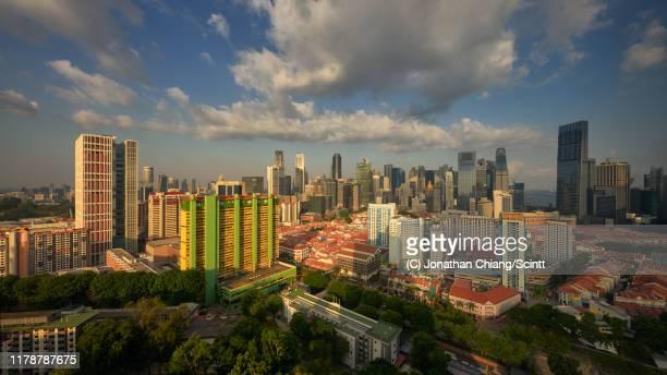 tanjong pagar and chinatown - ciudades capitales fotografías e imágenes de stock