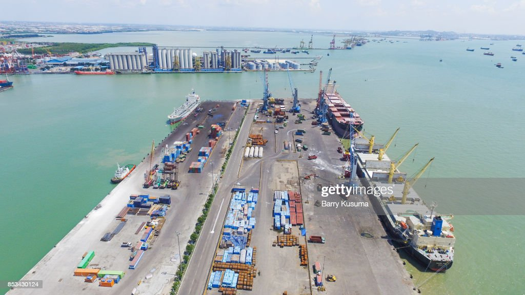 Tanjung Perak Port : Stock Photo