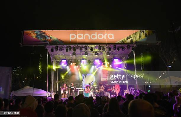 Tank and the Bangas perform onstage during Pandora SXSW 2018 on March 15 2018 in Austin Texas