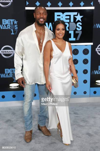 Tank and Zena Foster at the 2017 BET Awards at Microsoft Square on June 25 2017 in Los Angeles California