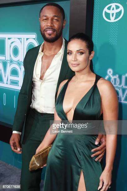 Tank and Zena Foster attend the 2017 Soul Train Awards presented by BET at the Orleans Arena on November 5 2017 in Las Vegas Nevada