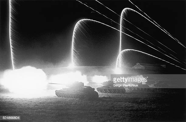 Tank battle at night Russian Front WWII 7/4/43