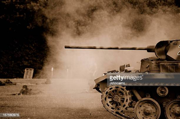 tank battle. - armored tank stock photos and pictures
