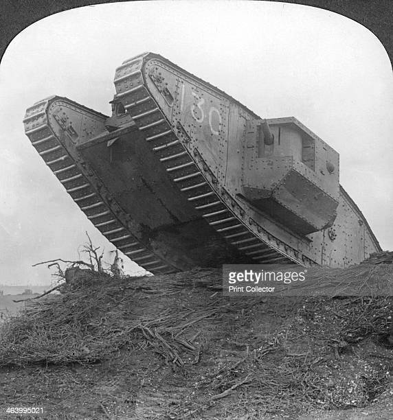 'A tank breaking through the wire at Cambrai' France World War I c1917c1918 The British were the first to use tanks in the First World War They were...