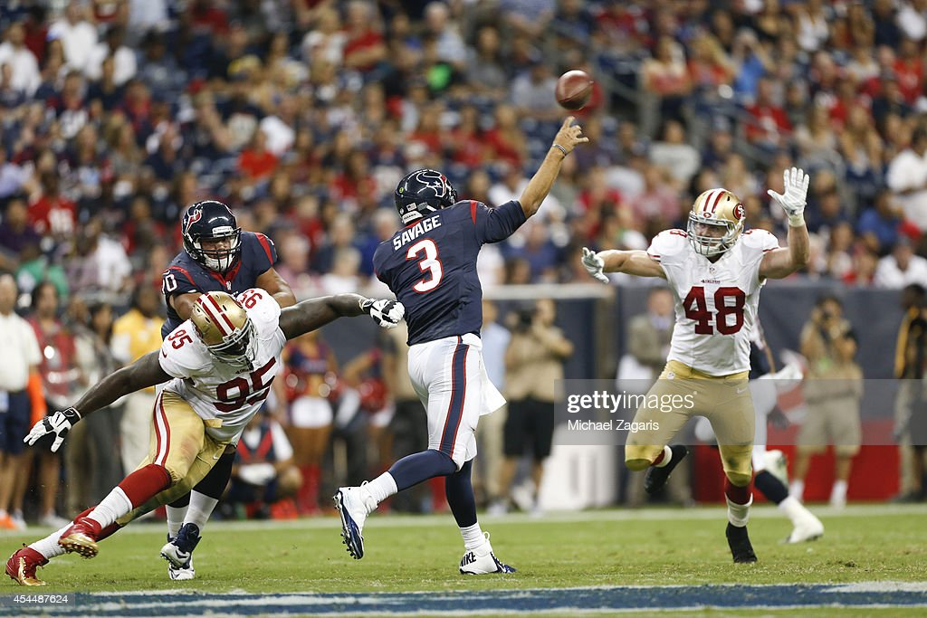 San Francisco 49ers v Houston Texans : News Photo