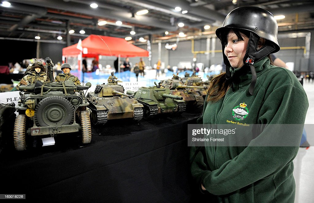 Tank collector Lilly at the Northern Modelling Exhibition at EventCity on March 3, 2013 in Manchester, England.