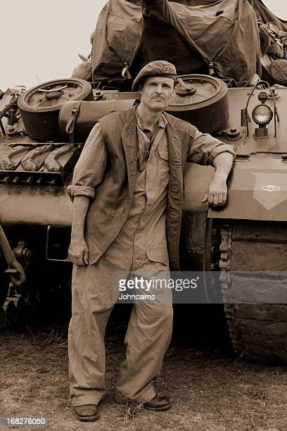 ww2 tank driver. - dunkirk evacuation stock pictures, royalty-free photos & images