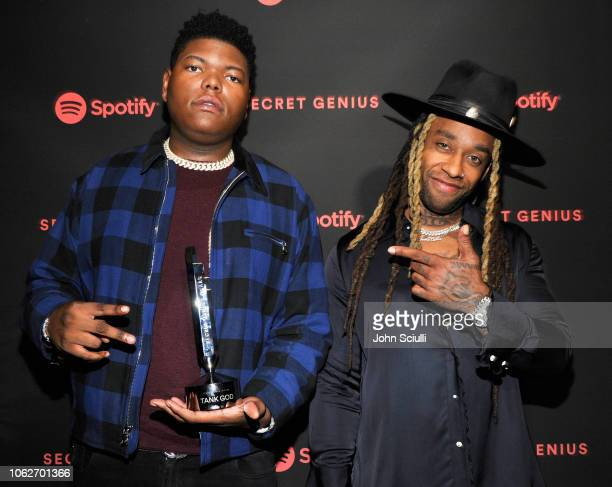 Tank God and Ty Dolla Sign attend Spotify's Secret Genius Awards Hosted By NEYO at The Theatre at Ace Hotel on November 16 2018 in Los Angeles...