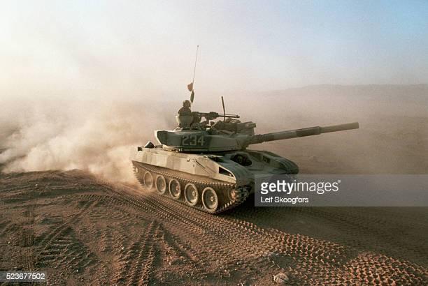 Tank in the Mojave Desert