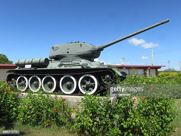 A tank is seen at the Museo Giron also known as The Bay of Pigs Museum at Giron in Playa Giron Cuba October 12 2014 The museum dedicated to the...