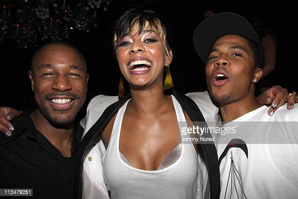 Tank Keri Hilson and J Valentine attend the after party for the screening of Loso's Way at The Griffin on July 27 2009 in New York City
