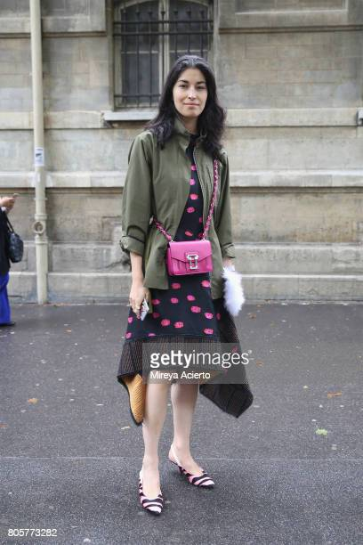 Tank Magazine's executive fashion director Caroline Issa attends the Proenza Schouler Haute Couture fashion show on July 2 2017 in Paris France