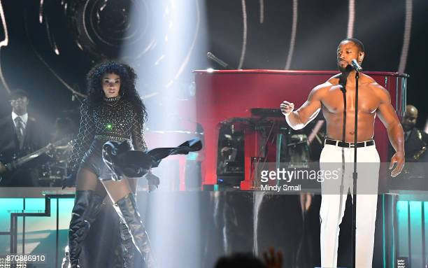 Tank performs onstage during the 2017 Soul Train Music Awards at the Orleans Arena on November 5 2017 in Las Vegas Nevada