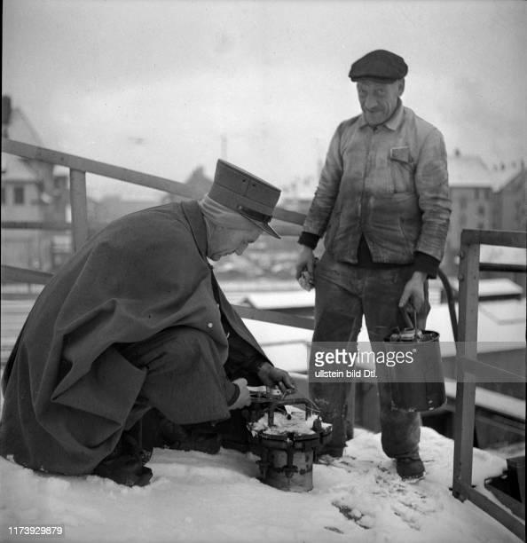 Tank sealing Petrol importation and storage Basle rhine port around 1946