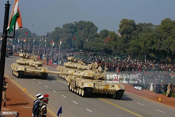 Tank T90 S/SK at 56th Republic Day Parade at Rajpath in New Delhi India