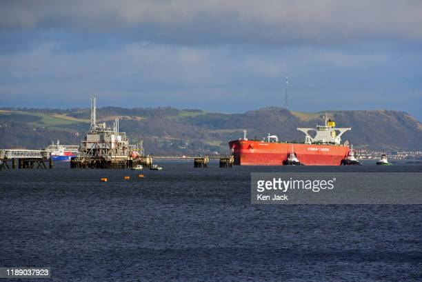A tanker approaches Hound Point oil terminal on the Firth of Forth as the UK Oil and Gas Authority announces it has received 104 applications in the...