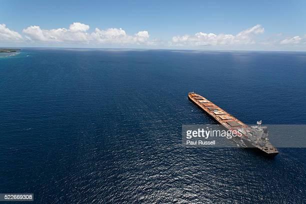 Tanker at sea off the coast of Mauritius